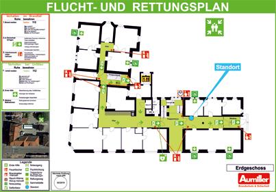 Fluchtplan-Rettungsplan